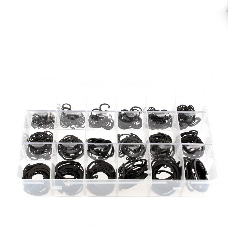Coffret D'Assortiment de Circlips Intérieurs Acier Noir DIN 472