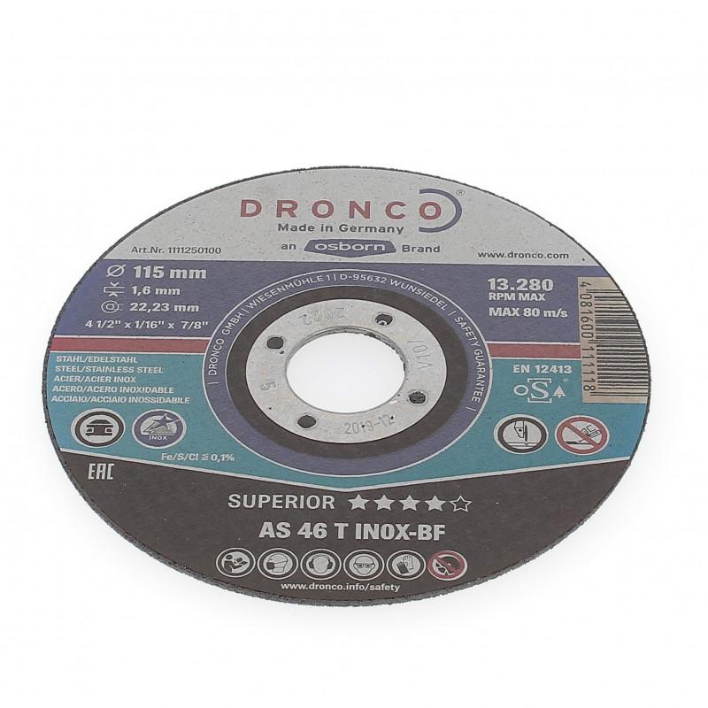 Disque à Tronçonner Plat 115x1.6x22.2 AS46T Inox