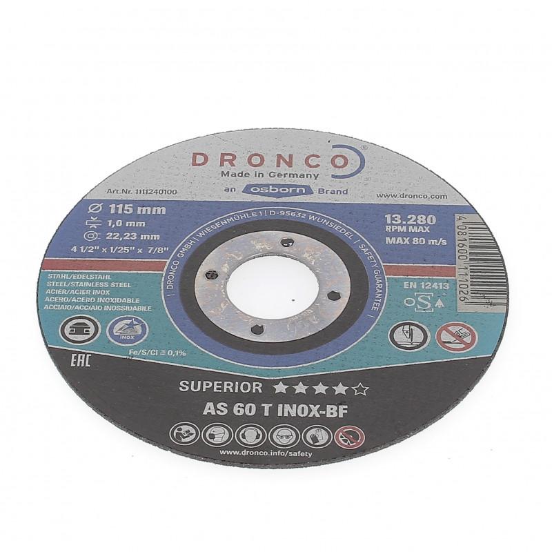 Disque à Tronçonner Plat 115x1x22.2 AS60T Inox