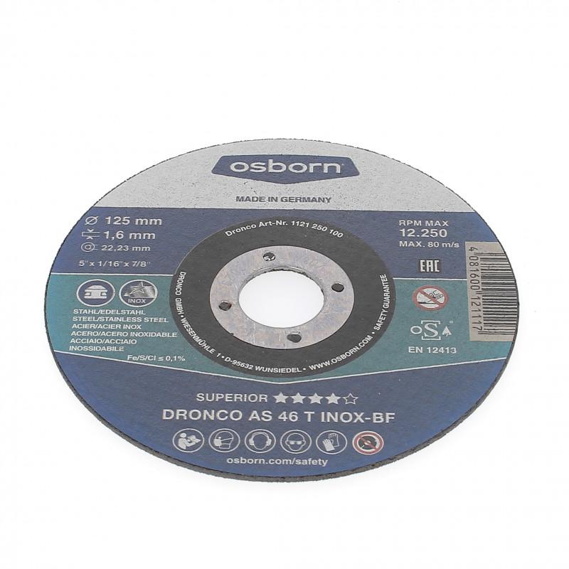 Disque à Tronçonner Plat 125x1.6x22.2 AS46T Inox