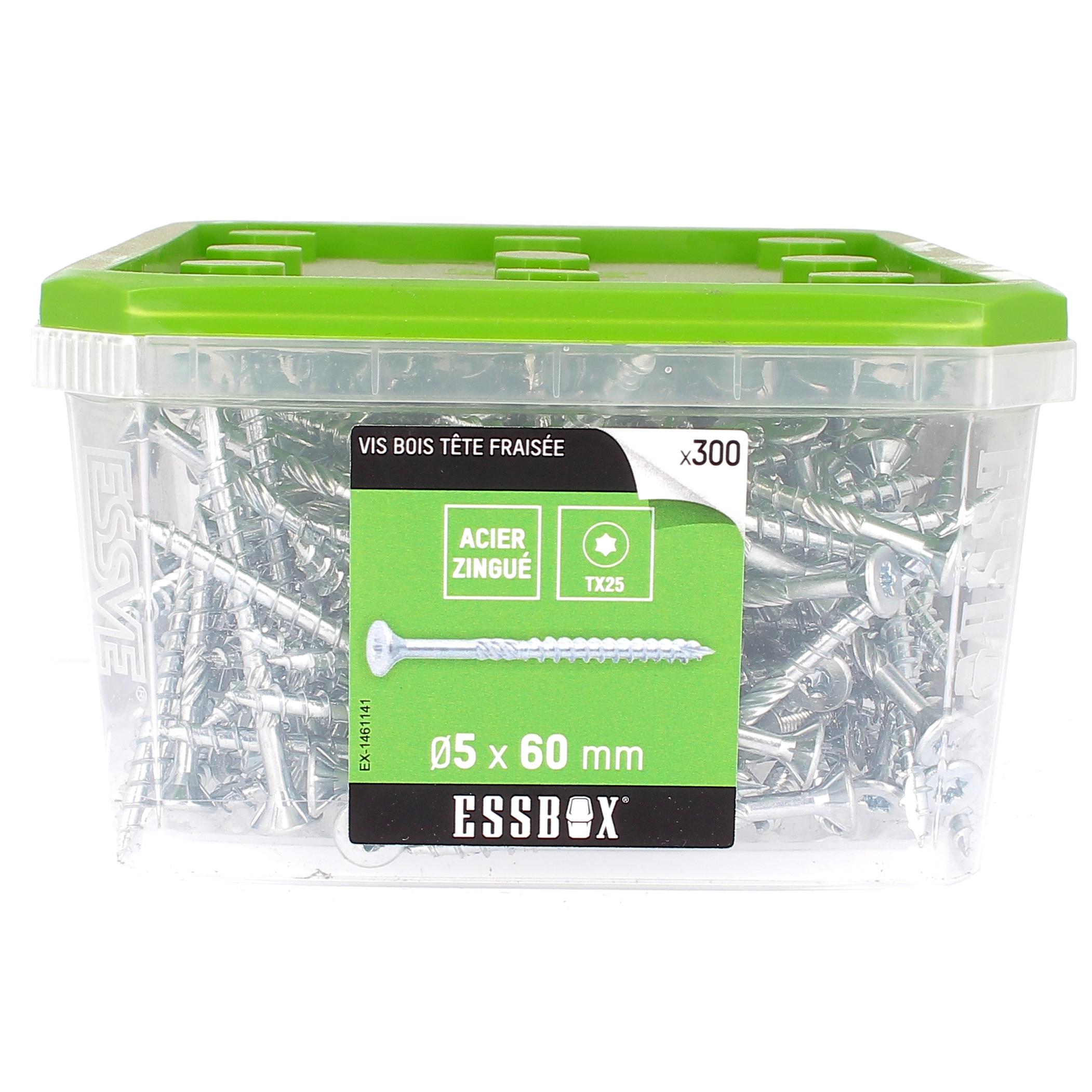ESSBOX de 300 VBA TFX 5X60 Zingué (filetage partiel)