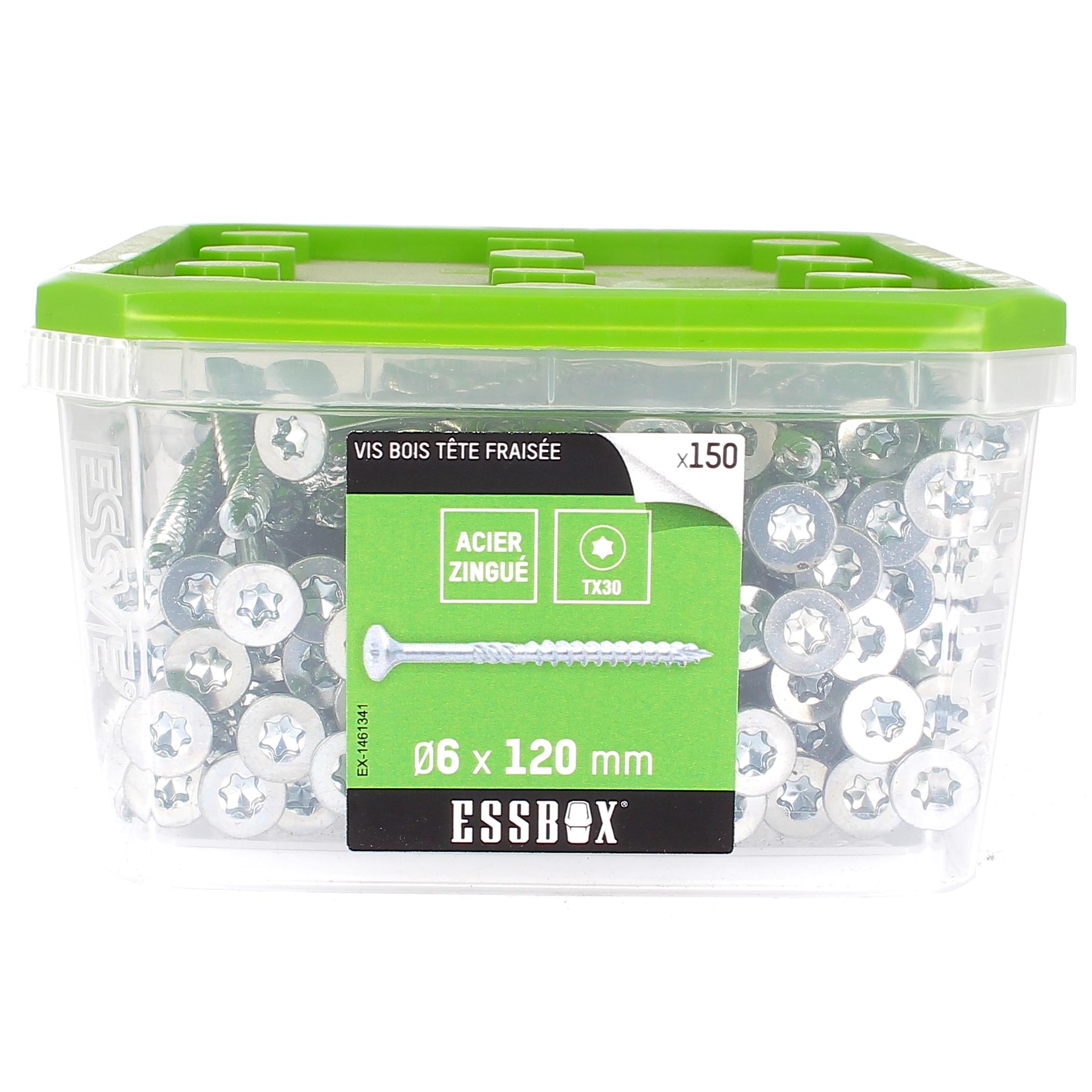 ESSBOX de 150 VBA TFX 6X120 Zingué (filetage partiel)