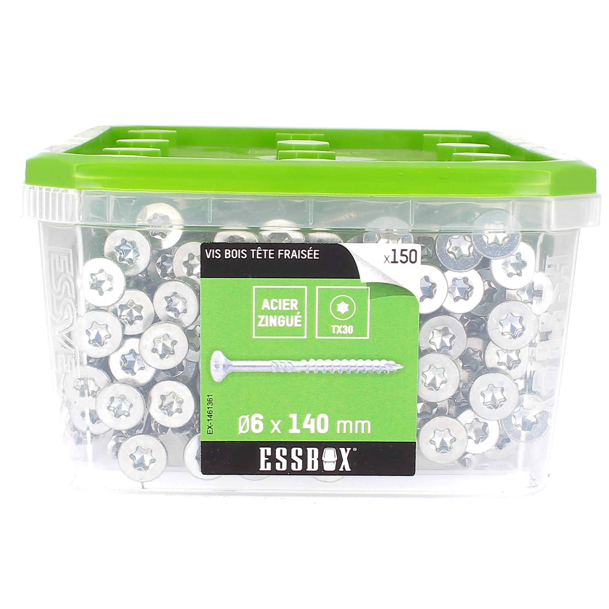 ESSBOX de 150 VBA TFX 6X140 Zingué (filetage partiel)