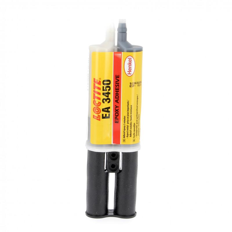 Seringue Epoxie Bi-Composant Gris Poxymatic Acier Loctite 3450 25mL