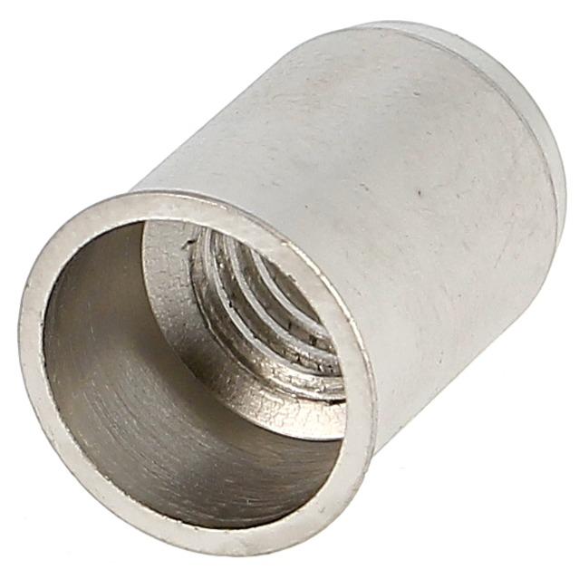 Ecrou Noyé RIVKLE en Inox à Fût Cylindrique Lisse Ouvert, cote de perçage poucique (Tête Fine)