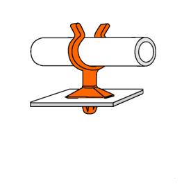 Support Pivotant 1 Tube PA66 Noir